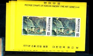 South Korea #781a-786a Mint S/S VF NH Cat$72