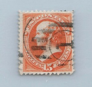 GOLDPATH US STAMP SC# 152 USED FINE VF, SMALL TEAR CAT $210 _SBH_01