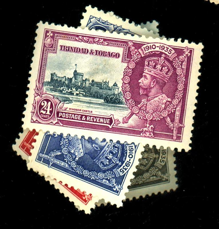 Trinidad and Tobago #43-46 MINT VF OG 43-5 NH 46 HR Cat$15