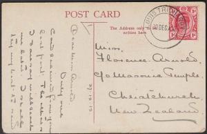 TRANSVAAL 1912 postcard ( Zulu Girl ) to New Zealand LOUIS TRICHARDT cds...67604