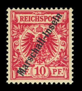 German Colonies MARSHALL ISLANDS 1897 10pf carmine - JALUIT Sc# 3c (Mi 3I) MNH