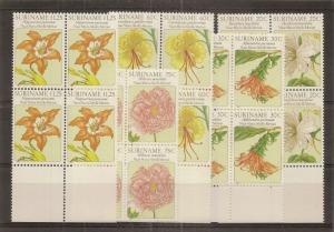 Suriname 1981 Flowers SG1023-1027 MNH Blocks