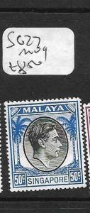 SINGAPORE (PP1101B) KGVI 50C  SG 27  MOG