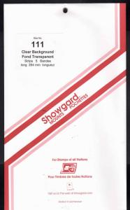 Showgard Stamp Mounts Size 111/264 CLEAR Background Pack of 5