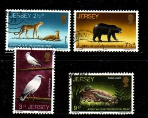 Jersey Sc 65-8 1972 Wildlife stamp set used