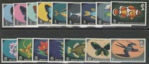 BRITISH SOLOMON IS. SG219/33a 1972 WILDLIFE SET MNH