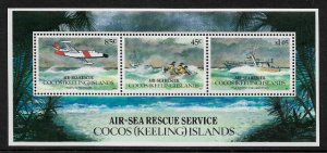 Cocos Is #285a MNH S/Sheet - Air-Sea Rescue Service