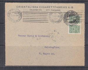 FINLAND, 1914 front, Cigarette Factory,  Russia 2k.(2). HELSINKI, local.