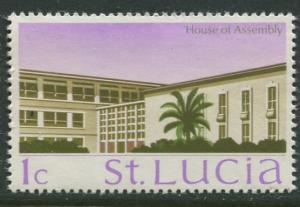 St. Lucia - Scott 261- House of Assembly -1970 - MNH -Single 1c Stamp