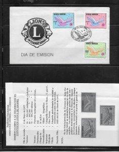 DOMINICAN REPUBLIC STAMPS,COVER CONVENCION ANUAL DE LEONES 1977 #F21