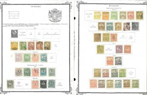 Hungary 1871-1948 M & U Hinged on Scott Vintage Rep. Pages & Int. Pages