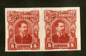 HONDURAS 53 TRIAL COLOR PROOF IMPERF PAIR MNH BIN $5.00 PERSON