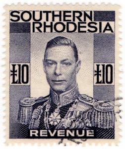 (I.B) Southern Rhodesia Revenue : Duty Stamp £10