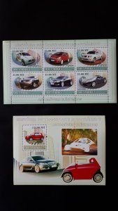 Cars - Electrical - History 5 - Mozambique 2009 - Complete SS + Bl ** MNH