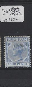 TURKS ISLANDS (P1805BB)  QV   4D      SG  50      MOG