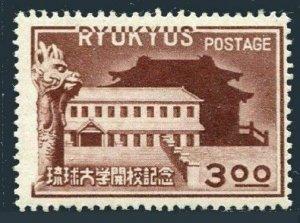 RyuKyu 14,hinged.Michel 18. RyuKyu University,1951.