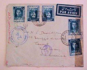 IRAN  3 DIFF. CENSORS ,  INCLUDES 2 RUSSIA APRIL 1945 B/S IRAQ TO USA