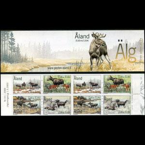 ALAND IS. 2000 - Scott# 164a Booklet-Elks LH