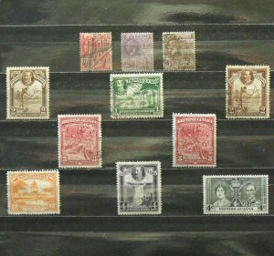 5638   Br Guiana   U # 192,193,194,206,210,211,212,212c,213,215,228    CV$ 10.35