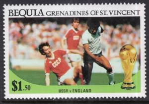 St Vincent Grenadines Bequia 226 Soccer MNH VF
