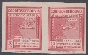 Bolivia Scott C100a Mint hinged (Catalog Value $25.00)