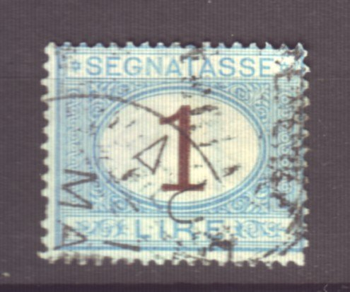 J22614 Jlstamps 1870-25 italy used #j13 o postage due