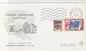 France 1961 European Parliamentary Assembly Stamps Cover ref R18688