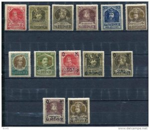 Poland 1917 MH Charity stamps Overprint Faults