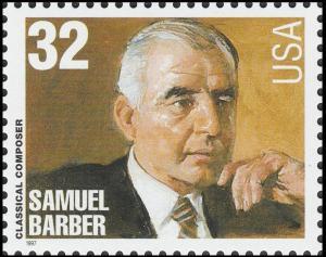 US 3162 Classical Composer Samuel Barber 32c single (1 stamp) MNH 1997