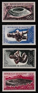 1968 Dahomey Scott C85-C88, C88a 19th Olympic Games MNH C88a folded see note
