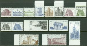 EDW1949SELL : IRELAND 1982-90 Sc #540/644. 15 Diff. values Cplt VF MNH. Cat $54