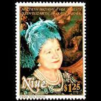 NIUE 1990 - Scott# 587 Queen Mother Set of 1 NH