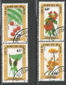 SENEGAL 798-801 VFU FLOWERS Z7-75