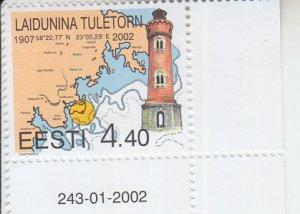 2002 Estonia Lighthouse - Laidunina (Scott 434) MNH