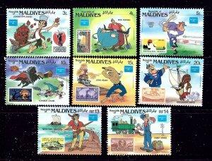 Maldives 1162-69 MNH 1986 Ameripex