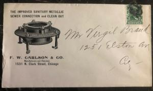 1920s Chicago IL USA Advertising Cover Carlson Co Sewer Connection
