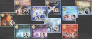 PE213-222 2013 MALI GREAT SCIENTISTS NOBEL PRIZE WINNERS FAMOUS PEOPLE 10BL MNH