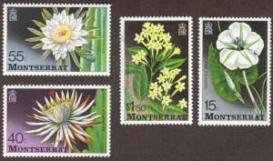 Montserrat #366-9 MH cpl flowers