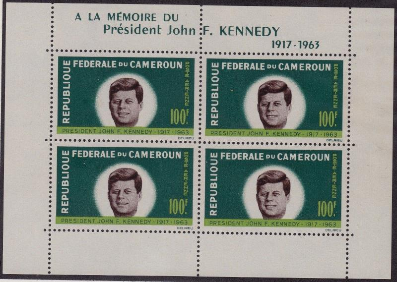CAMEROON MNH Scott # C52a Kennedy (4 Stamps) -1