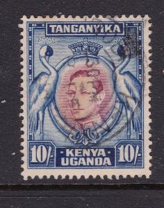 Kenya U,T a used 10/- KGVI