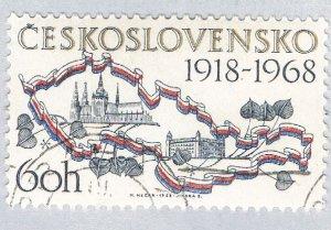 Czechoslovakia Map white 60h (AP128722)
