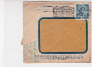 Belgium 1949 Multiple cancels from Minister of Finance Stamps Cover ref R 17998