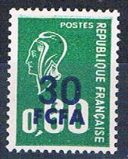 Reunion 397 MNH Surcharge 1975 (R0469)+