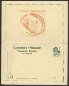 MEXICO 6c Monument lettercard - unused.....................................58790