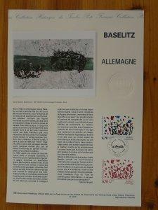 paintings Georg Baselitz Germany modern art FDC folder with engraving 1994-511