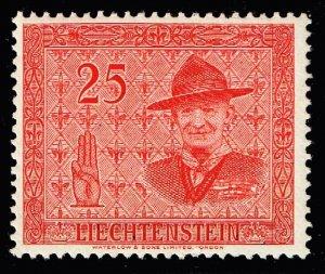 Liechtenstein Stamp 1953 International Scout Conference, Vaduz 25rp  MLH/OGH