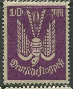 GERMANY. -Scott C16 - Airpost -1923- MLH - Single 10m Stamp