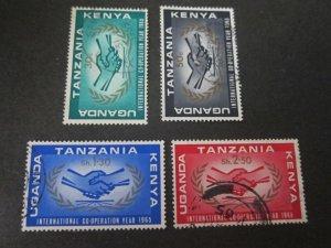 Kenya Uganda Tanganyika 1966 Sc 164-7 set FU