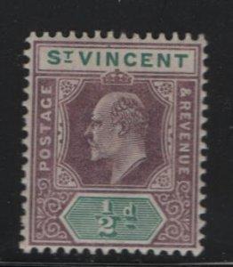 ST. VINCENT, 71, HINGE REMNANT, 1902, EDWARD VII