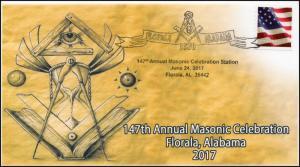 17-133, 2017, Masonic Celebration, Masons, Florala AL, 147th Annual, Event Cover